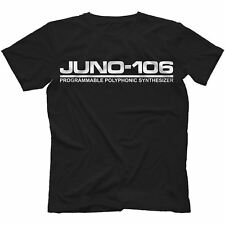 Juno 106 T-Shirt 100% Cotton Analog Synth Retro 60 Jupiter