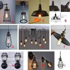 Vintage Industrial Chandelier Pendant Light Wall Sconce Edison Lamp Kitchen Home