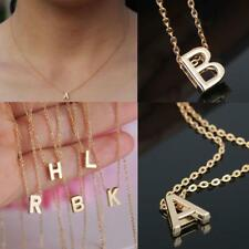 Charm Women Gift Gold Plated Letter Name Initial Chain Pendant Fashion Necklaces