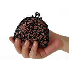 "Women Leather Coin Purse Japanese Style Gamaguchi ""INDEN 1105"" Traditional Craft"