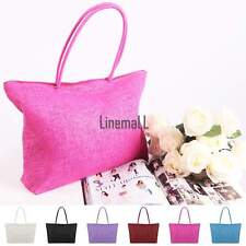 Women Lady Summer Straw Bags Beach Tote Single Shoulder Bag Handbag Travel LM