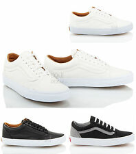 Unisex mens womens black white Vans Old Skool lace up sneakers trainers size