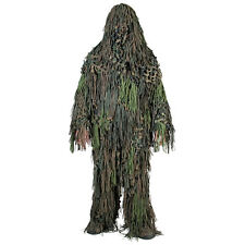 Ghillie Suit Jackal 3-D Camo Paintball Airsoft Hunting Woodland Camouflage M-XXL