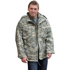 Military Mens Combat M65 Jacket Army Tactical Patrol Coat ACU Digital Camo S-3XL
