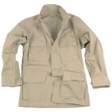 Teesar Mens BDU Battle Uniform Jacket Tactical Ripstop Cotton Army Shirt Khaki