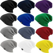 EIGHT MILES HIGH Perfect Beanie Slouch Long Basic Classic Knit Winter Hat Urban