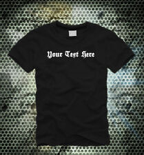 Your Text Here - Gothic Text - Custom Men's T-Shirt #01