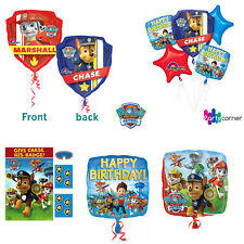 PAW PATROL PARTY SUPPLIES PARTY GAME, FOIL BALLOON OR 5 FOIL BALLOON BOUQUET