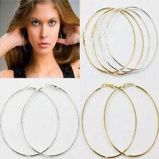 20,30,40,50,60,70,80,90MM Circle Basketball Wives Hoop Jewelry Earring 20Pcs