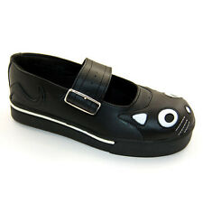 T.U.K A6467 TUK Mary Jane Cat face Shoe Black