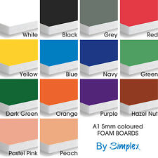 A1 Foam Boards 5mm (10 Pack) Coloured