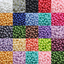 100Pcs Top Quality Czech Glass Pearl Round Beads Choose - 4MM, 6MM, 8MM & 10MM