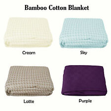 Bamboo Cotton or Pure Cotton King Sized Blanket 250cm x 280cm
