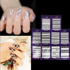 Black White 3D Lace Nail Art Manicure Tips Sticker Decal DIY Decoration Fashion