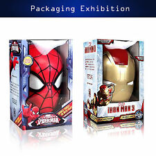 HOT Marvel Avengers Iron man Mask Helmet/Spider Man Head Wall LED Night 3D Deco