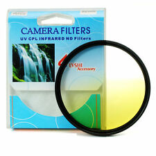 Graduated Yellow Color Lens Filter Screw Mount 46/49/52/55/58/62/67/72/77/82 mm