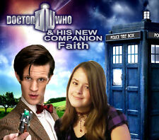 Your picture on a custom T shirt with Matt Smith! 11th Doctor Who Tardis