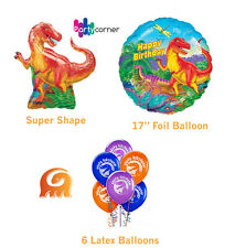 "DINOSAUR PARTY SUPPLIES DECORATIONS FOIL BALLOON OR 12"" (30CM) LATEX BALLOONS"