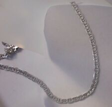 14k White Gold ep Etched Marnier Chain 6MM wide Lifetime warranty Guarantee