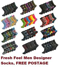 12 PAIRS FRESH FEEL MEN DESIGN SOCKS SMART SUIT COTTON,Number in Pack3 SIZE 6-11