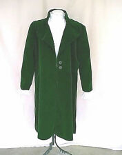 Forest Green Poly Velvet Victorian Steampunk Style Costume Frock Coat