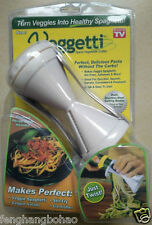 Veggetti Spiral Vegetable Slicer, Makes Veggie Pasta white +pamphlet