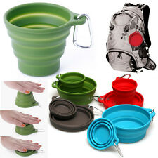 Silicone Portable Collapsible Outdoor Travel Cup, Mug, Tumblers, Bowls lot 1