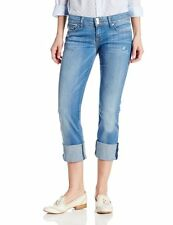 Hudson Jeans Ginny Reg Rise Straight Crop, Cuff Womens Sizes 24-26 VooDoo Child