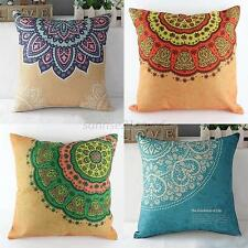 Simple Cotton Linen Throw Waist Pillow Case Sofa Cushion Cover Square Home Decor