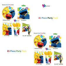 SESAME STREET PARTY SUPPLIES 41 OR 65 PIECE PARTY PACKS GENUINE LICENSED