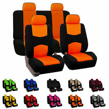 8 Piece Lowback Flat Cloth Full Set Auto Seat Covers