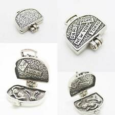 Suitcase Passport Travel 925 Sterling Silver Charm Pendant w Spacer / Bracelet