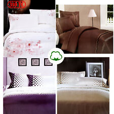 310TC Pure Cotton Embroidery Appliqued Quilt Doona Duvet Cover Set QUEEN KING