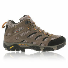 Merrell Mens Moab Brown Mid Gore-Tex Waterproof Walking Hiking Boots Shoes