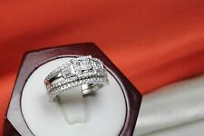 VINTAGE STYLE 1.65 C STERLING SILVER 925 CZ ENGAGEMENT WEDDING RING SET WRS49-MU