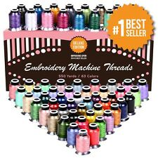 Polyester Embroidery Thread 63 Variety Spools Perfectly Match To Brother Machine