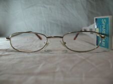 Foster Grant Spare Pair Gold Slim Oval Reading Glasses +1.25 1.75 2.00 2.25
