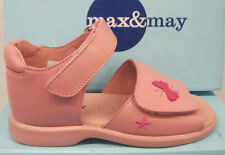 """Max&May Girls Pink Leather Sandals """"CAR B/FLY V SAN"""""""
