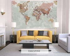 Giant Sized Canvas World Map - Executive