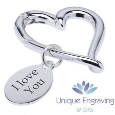 PersonalisedText Engraved Beating Heart Keyring FREE UK Postage Great Gift Idea!