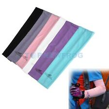2pcs Golf Cooling Sport Arm Stretch Sleeves Cover UV Sun Protection Outdoor Bike