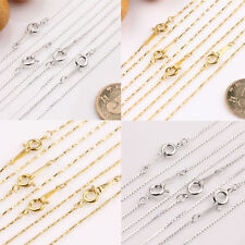 Lots 2/10Pcs Gold/Silver Plated Cross Chain Round Clasp Necklace Finding 43cm