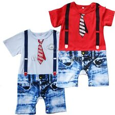 Cool Baby Boy Kid One Piece Gentleman Romper Jumpsuit Outfit Clothes 0-18 Months
