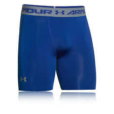 Under Armour Heat Gear Compression Mid Mens Blue Gym Trunks Boxer Shorts New