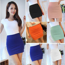 Women Sexy Mini Skirt Slim Seamless Stretch Tight Short Pencil Skirt Candy Dress