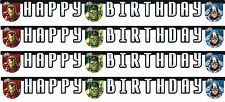 Marvel Avengers Party 2.3m Happy Birthday Party Banner | Banner 1-5pk