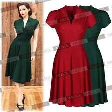 New Women's Vintage Retro 40s 50s Swing Cocktail Party Evening Tea Dresses S-XXL