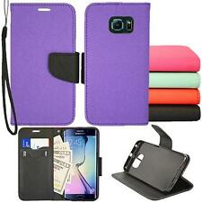 For Samsung Galaxy S6 Edge Preimum Wallet Pouch Cover Case PU Leather Stand