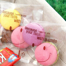 Clear Smile Cello Cellophane Wedding Party Favour Sweet Candy Gift Macarons Bags