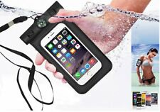 Cell phone Waterproof Compass Pouch Bag Case +Neck/Armband Strap Diving Swimming